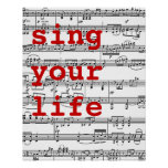 sing your life music poster