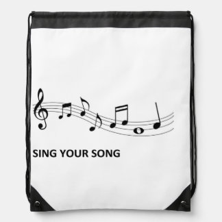 Sing Your Song Drawstring Bag