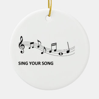 Sing Your Song Round Ceramic Decoration