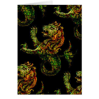 Singa-Laut Dark Blank Card