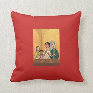 Singalong design Reversible Cushion
