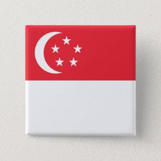 singapore 15 cm square badge