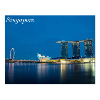 Singapore Blue by the Bay Postcard