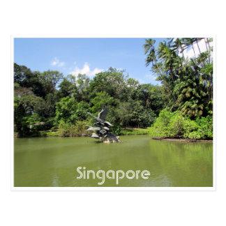 singapore botanic gardens postcard