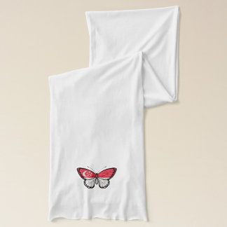 Singapore Butterfly Flag Scarf