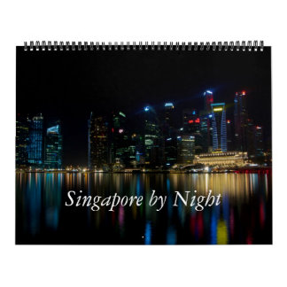 Singapore by Night Wall Calendar