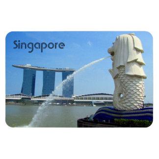 singapore casino merlion rectangular photo magnet