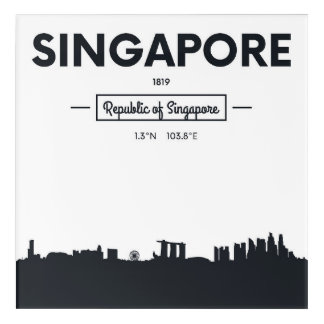 Singapore, China | City Coordinates Acrylic Print