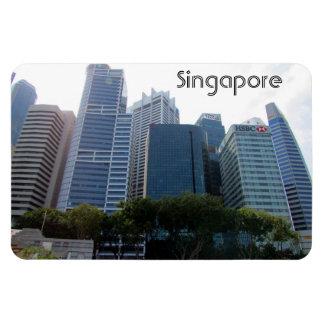 singapore city rectangular photo magnet