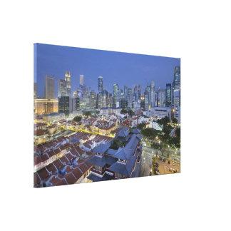 Singapore Cityscape at Blue Hour Canvas Gallery Wrap Canvas