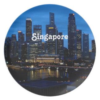 Singapore Cityscape Plate