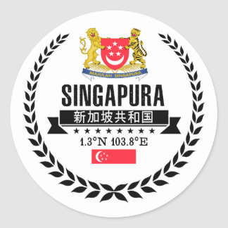 Singapore Classic Round Sticker
