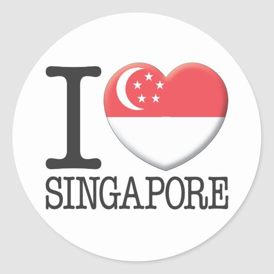 Singapore Classic Round Sticker