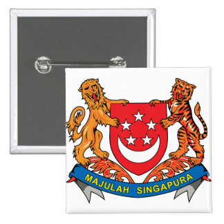 Singapore Coat of Arms detail 15 Cm Square Badge