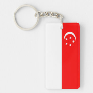 singapore country flag nation symbol key ring