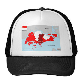 singapore country political map flag hat
