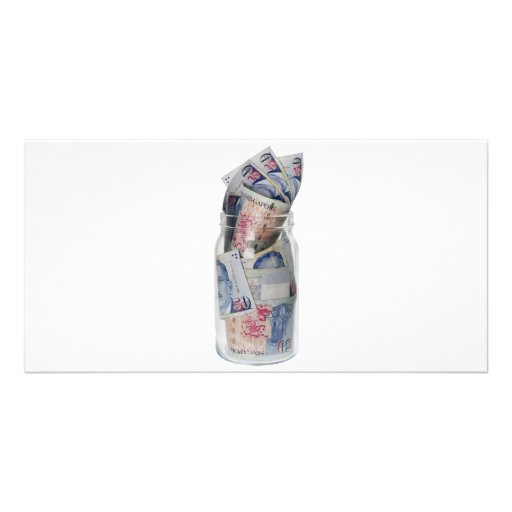 Singapore currency personalized photo card