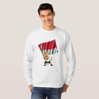 Singapore fan cat T-Shirt