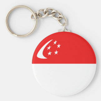 Singapore Fisheye Flag Keychain