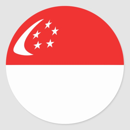 Singapore Fisheye Flag Sticker