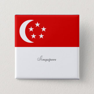 Singapore Flag Button/Lapel Pin