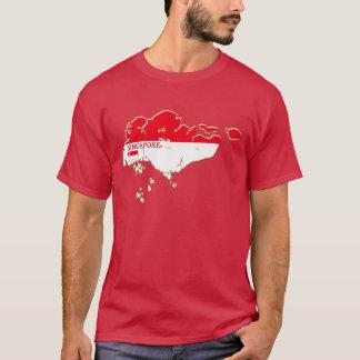 Singapore Flag Colors Designer Brand T-Shirt