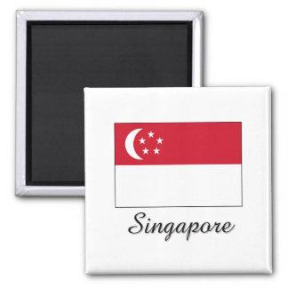 Singapore Flag Design Refrigerator Magnet