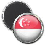 Singapore Flag Glass Ball Fridge Magnets