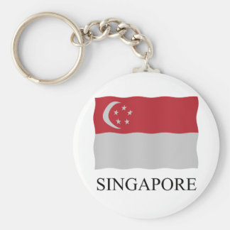 Singapore flag key ring