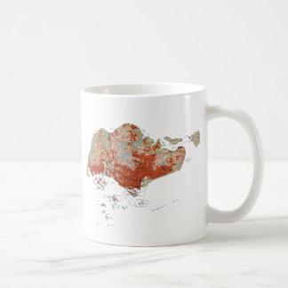Singapore Flag ~ Map Mug