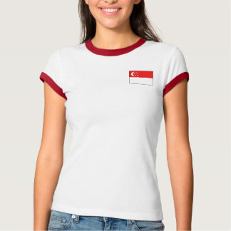 Singapore Flag + Map T-Shirt