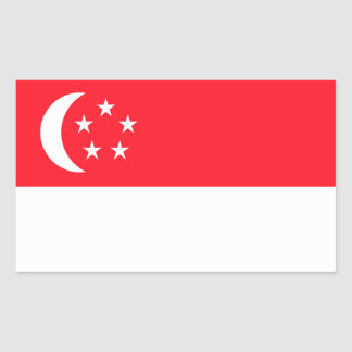 Singapore Flag Rectangular Sticker