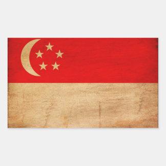 Singapore Flag Rectangular Sticker