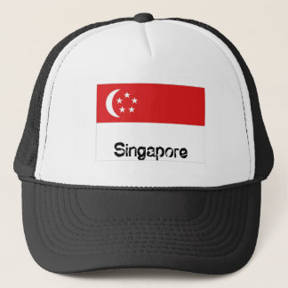 Singapore flag souvenir hat