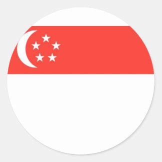 Singapore Flag Round Sticker