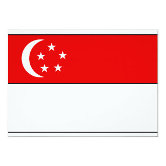 "Singapore Flag T-shirts and Gifts 5"" X 7"" Invitation Card"