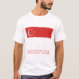 Singapore Flag with Name T-Shirt