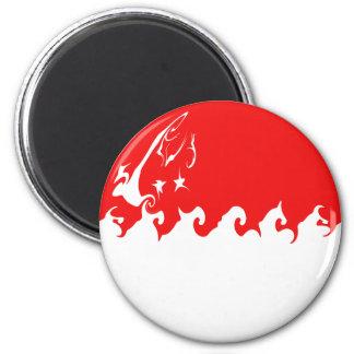 Singapore Gnarly Flag 6 Cm Round Magnet