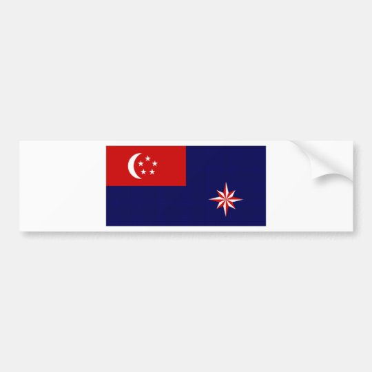 Singapore Government Ensign Bumper Sticker