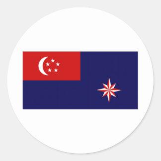 Singapore Government Ensign Round Sticker