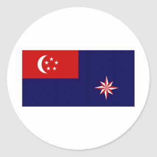 Singapore Government Ensign Round Sticker