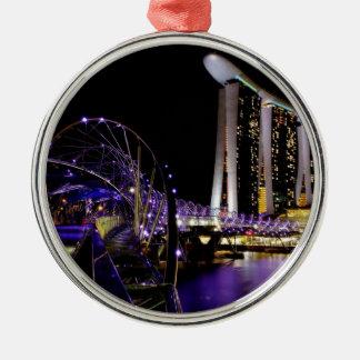 Singapore Helix bridge Christmas Ornament