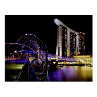 Singapore Helix bridge Postcard