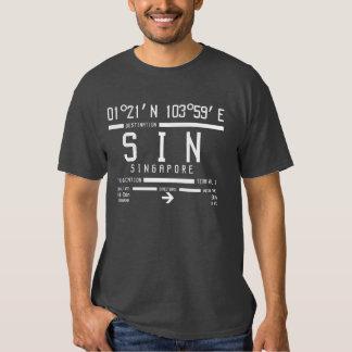 Singapore International Airport Code Tee Shirt