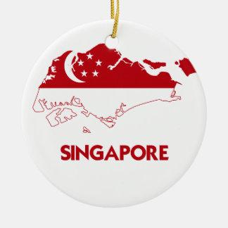 SINGAPORE MAP CHRISTMAS ORNAMENT