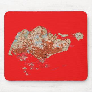 Singapore Map Mousepad