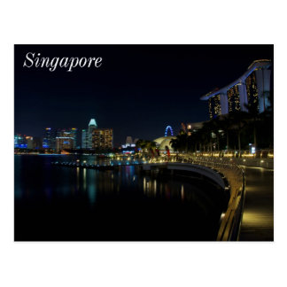 Singapore Marina Bay Walkway Postcard