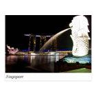 Singapore Merlion at Marina Bay Postcard