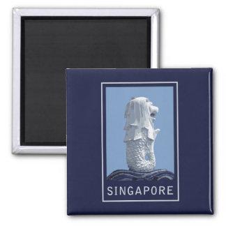 Singapore Merlion Square Magnet
