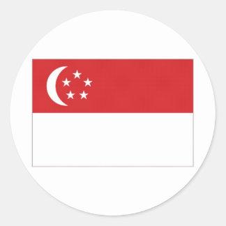 Singapore National Flag Classic Round Sticker